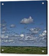 Clouds And Landscape In Alberta Canada Acrylic Print
