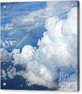 Clouds And Rainbow Acrylic Print