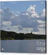 Clouds And River Acrylic Print
