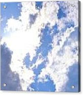 Clouds And Sunshine Acrylic Print