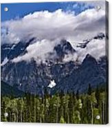 Clouds Around Mountains, Robson Acrylic Print