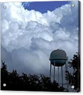 Clouds Around The Water Tower Acrylic Print
