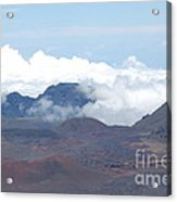 Clouds At Haleakala Acrylic Print