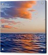 Clouds At Sunset - Racing Across The Water At Sunset Acrylic Print