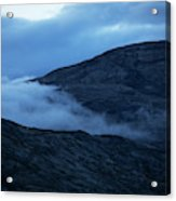 Clouds Cover The Mountains Of The Ice Acrylic Print