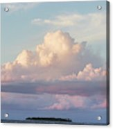 Clouds Glow In The Sky During Sunset Acrylic Print