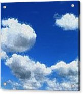 Clouds In A Blue Sky Acrylic Print
