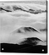 Maui Hawaii Haleakala National Park Clouds In Haleakala Crater II Acrylic Print
