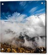Clouds In Haleakala Acrylic Print