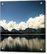 Clouds In The Grand Tetons Acrylic Print