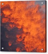 Clouds Of Fire Acrylic Print