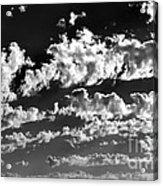 Clouds Of Freycinet Bw Acrylic Print