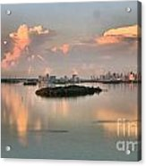 Clouds On The Bay Acrylic Print