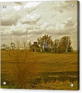 Clouds Over An Illinois Farm Acrylic Print