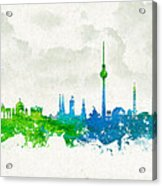 Clouds Over Berlin Germany Acrylic Print by Aged Pixel