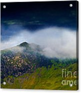 Clouds Over Bull Crag And Maiden Moor Acrylic Print