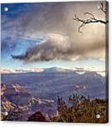Clouds Over Canyon Acrylic Print by Lisa  Spencer