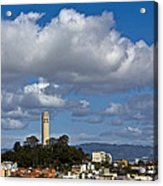 Clouds Over Coit Tower Acrylic Print