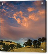 Clouds Over East Bay Hills Acrylic Print