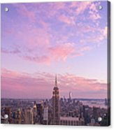 clouds over Empire State Acrylic Print