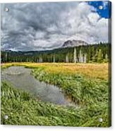 Clouds Over Hat Lake Acrylic Print