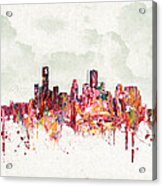 Clouds Over Houston Texas Usa Acrylic Print