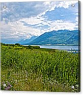Clouds Over Jackson Lake In Grand Teton National Park-wyoming Acrylic Print