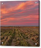 Clouds Over Landscape At Sunset Acrylic Print
