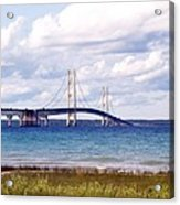 Clouds Over Mackinaw Acrylic Print