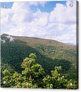 Clouds Over Mountain, Sunset Rock Acrylic Print