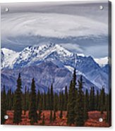 Clouds Over Mountains Acrylic Print