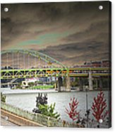 Clouds Over Pittsburgh Acrylic Print