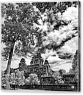 Clouds Over Temple In Siem Reap In Cambodia Acrylic Print
