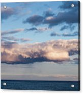 Clouds Over The Atlantic Ocean At Dusk Acrylic Print