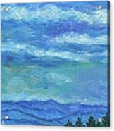 Clouds Over The Blue Ridge Acrylic Print