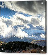Clouds Over The Blue Ridge Mountains Acrylic Print