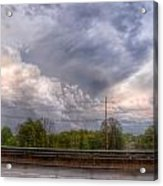 Clouds Over The Highway Acrylic Print