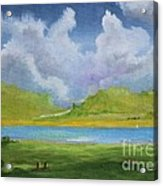 Clouds Over The Lake Acrylic Print