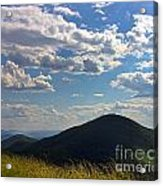 Clouds Over The Mountain Acrylic Print