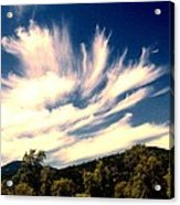Clouds Over The Mountains Acrylic Print