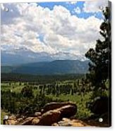 Clouds Over The Rockies Acrylic Print