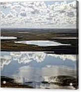 Clouds Reflected In Aleutian Lakes Acrylic Print