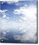 Clouds Reflected Acrylic Print