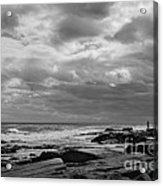 Clouds Rolling In Acrylic Print by Diane Diederich