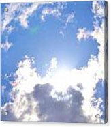 Clouds With Sunshine Acrylic Print