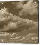 Cloudscape In Sepia Acrylic Print