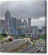 Cloudy Atlanta Capital Of The South Acrylic Print
