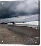 Cloudy Beach Day Acrylic Print