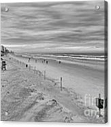 Cloudy Beach Morning Acrylic Print