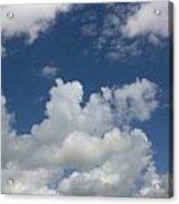 Cloudy Blue Sky Acrylic Print